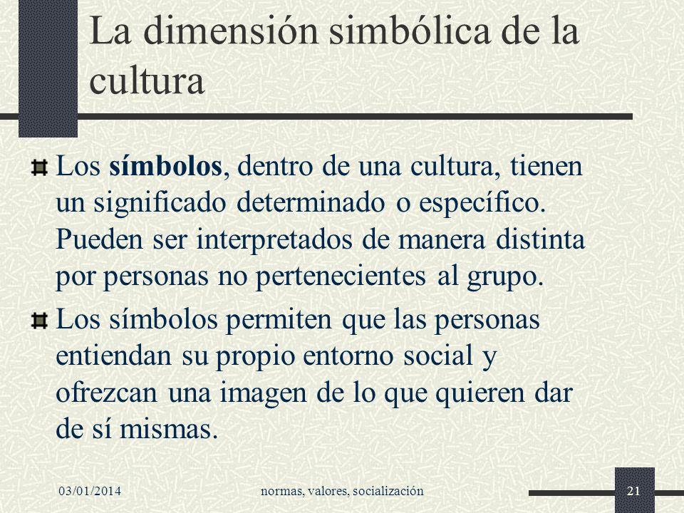 La dimensión simbólica de la cultura