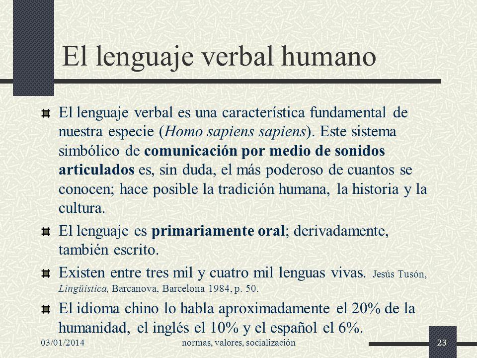 El lenguaje verbal humano