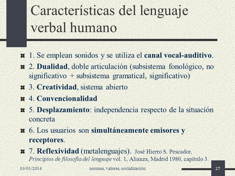 Características del lenguaje verbal humano