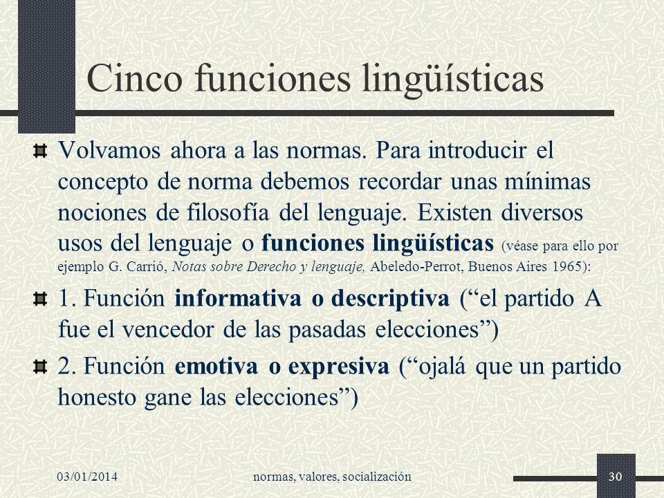 Cinco funciones lingüísticas