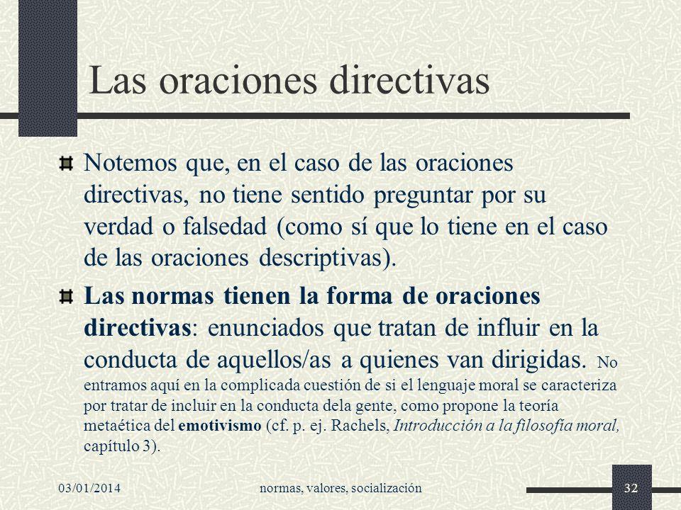 Las oraciones directivas