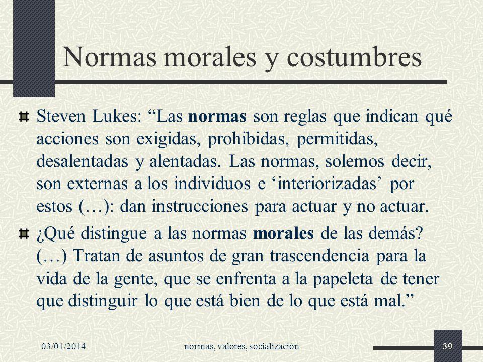 Normas morales y costumbres