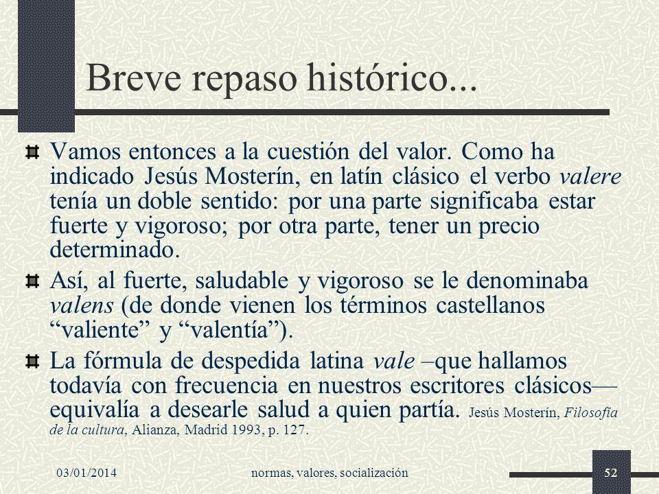Breve repaso histórico...