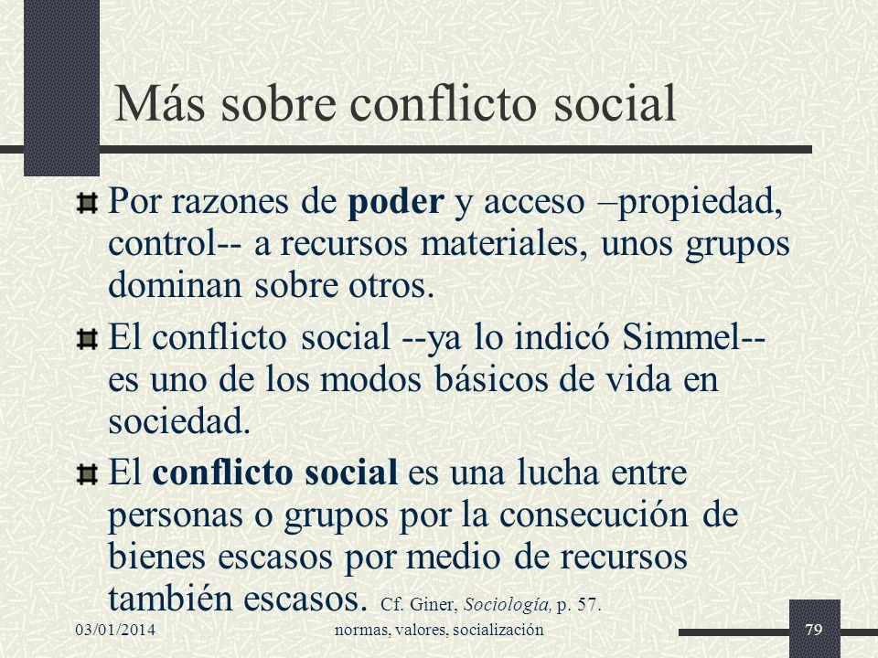 Más sobre conflicto social