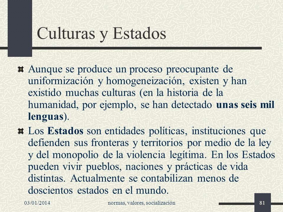 normas, valores, socialización