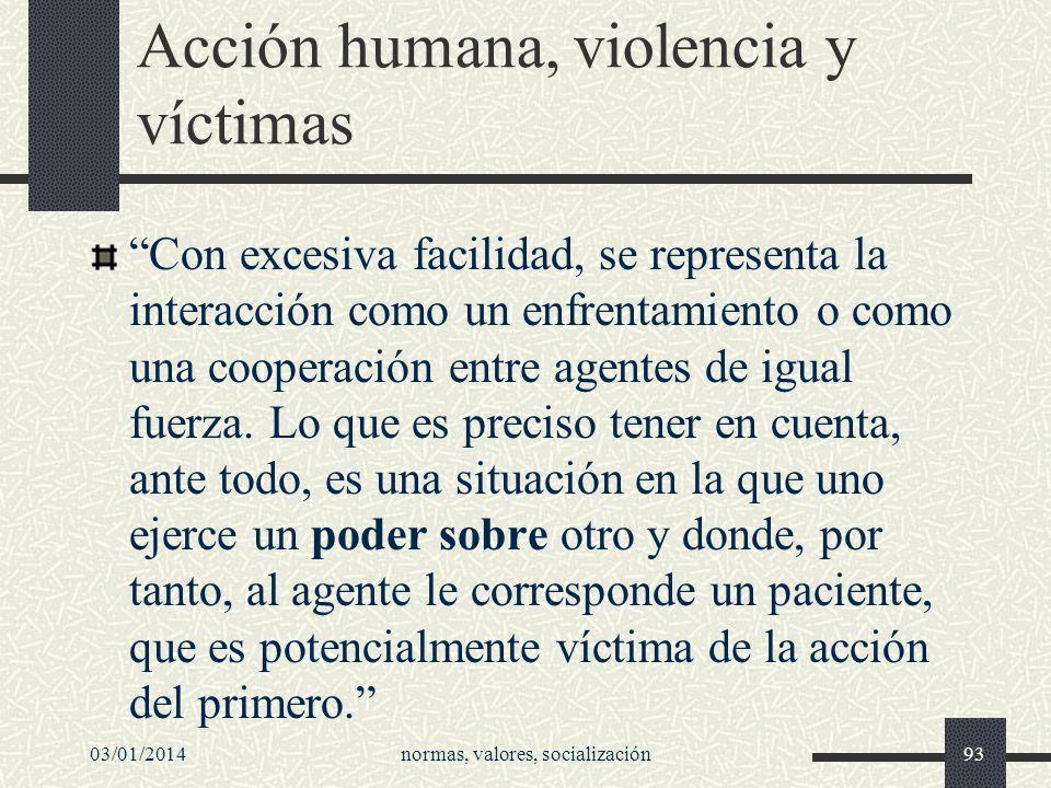 Acción humana, violencia y víctimas