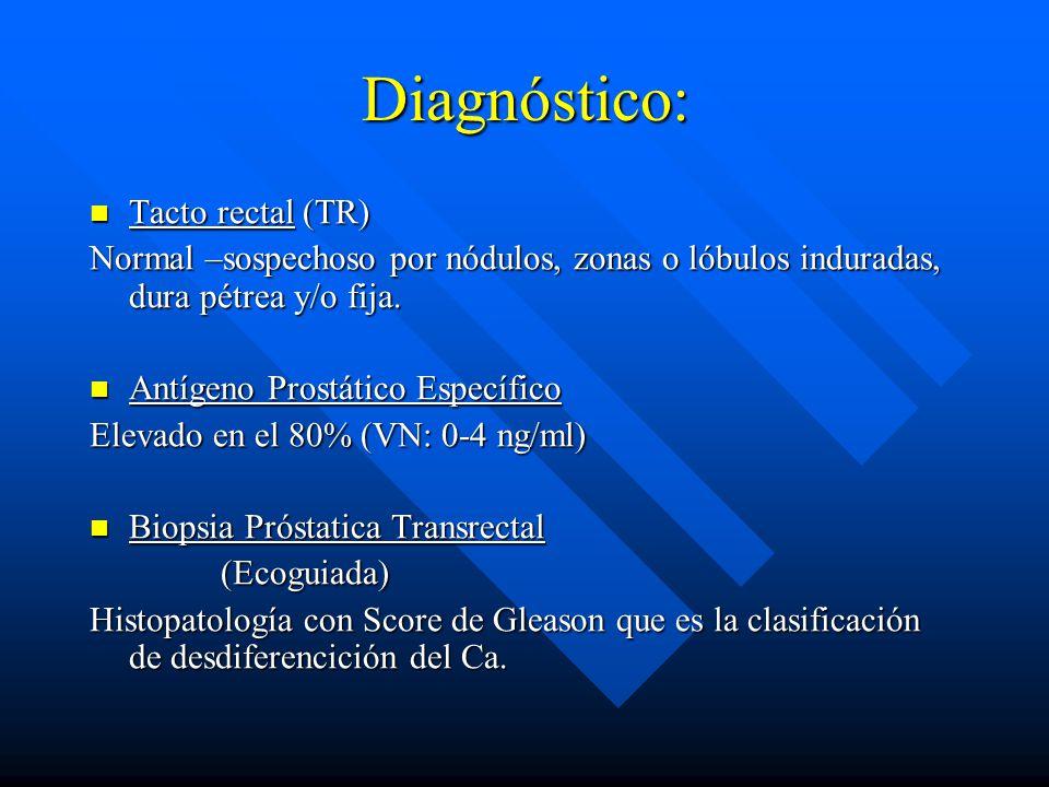 Diagnóstico: Tacto rectal (TR)