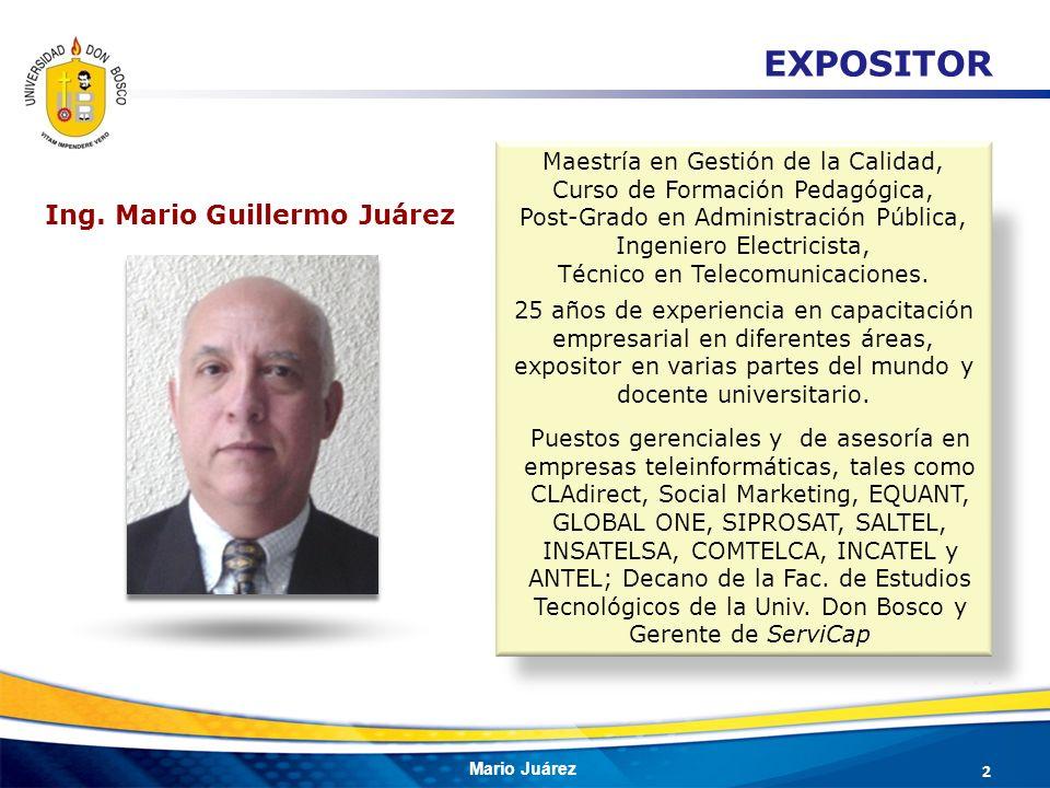 Ing. Mario Guillermo Juárez