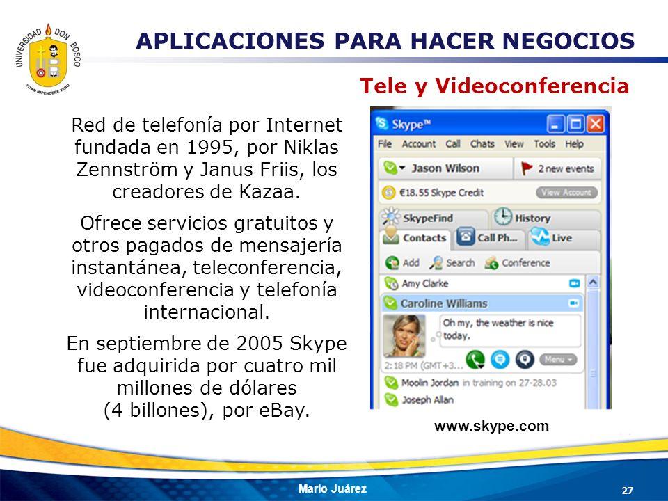 APLICACIONES PARA HACER NEGOCIOS Tele y Videoconferencia