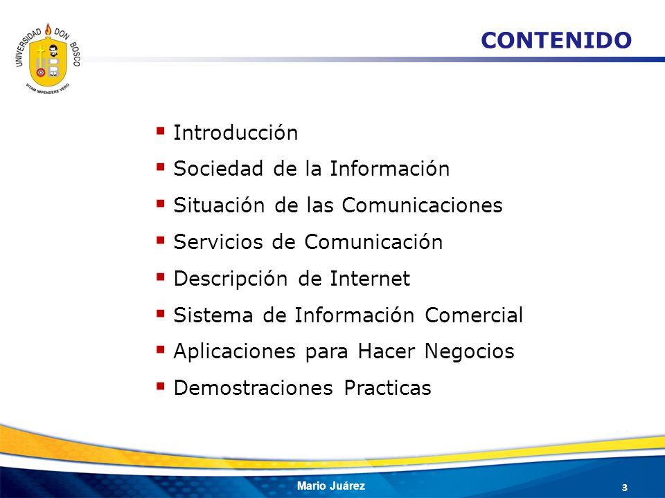 CONTENIDO Introducción Sociedad de la Información