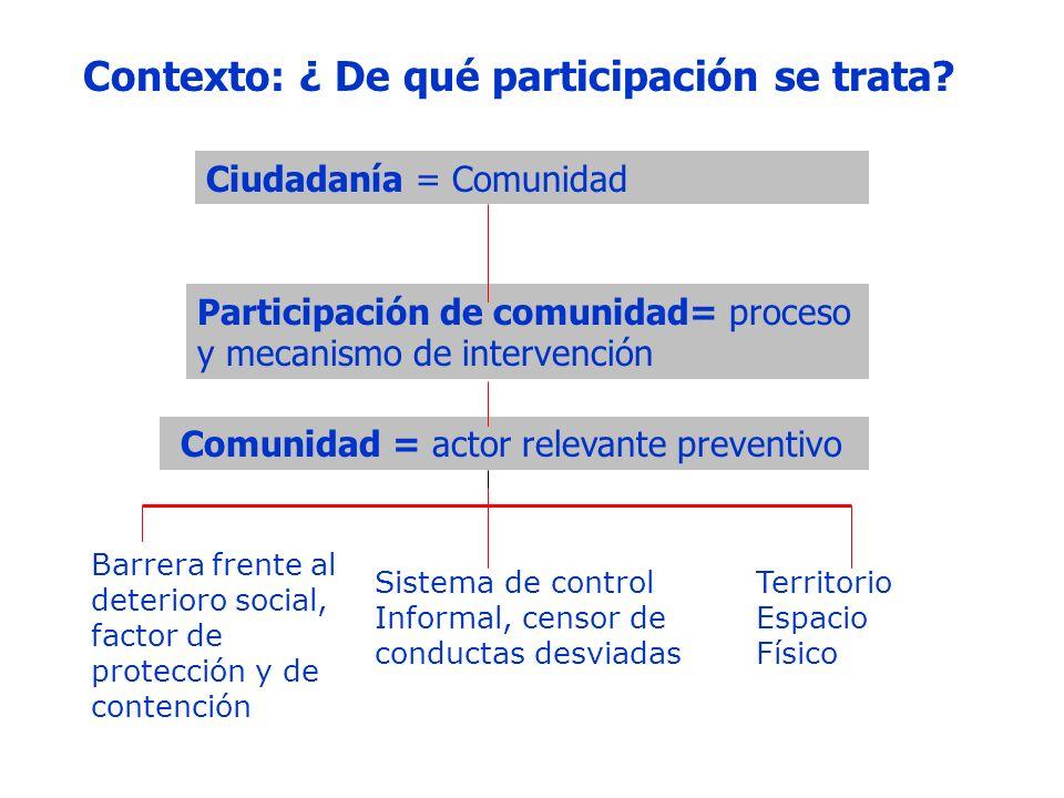 Contexto: ¿ De qué participación se trata