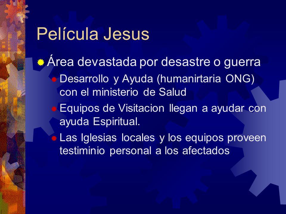 Película Jesus Área devastada por desastre o guerra