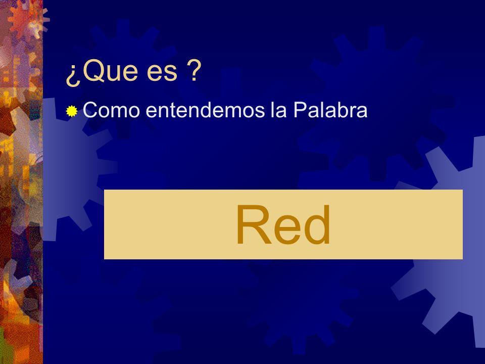 ¿Que es Como entendemos la Palabra Red