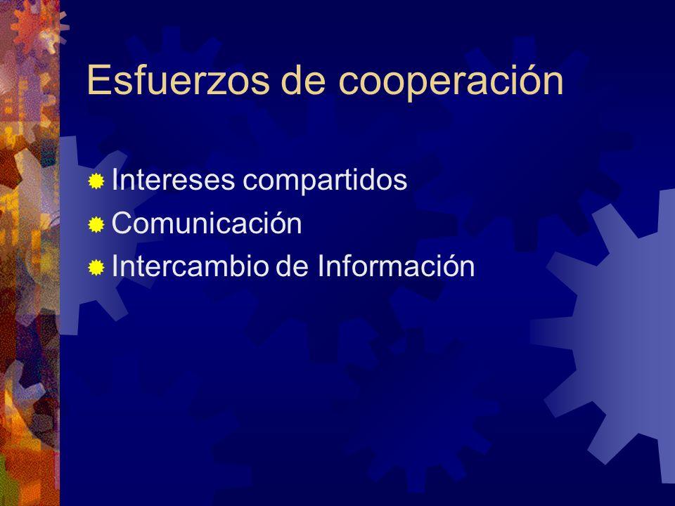 Esfuerzos de cooperación