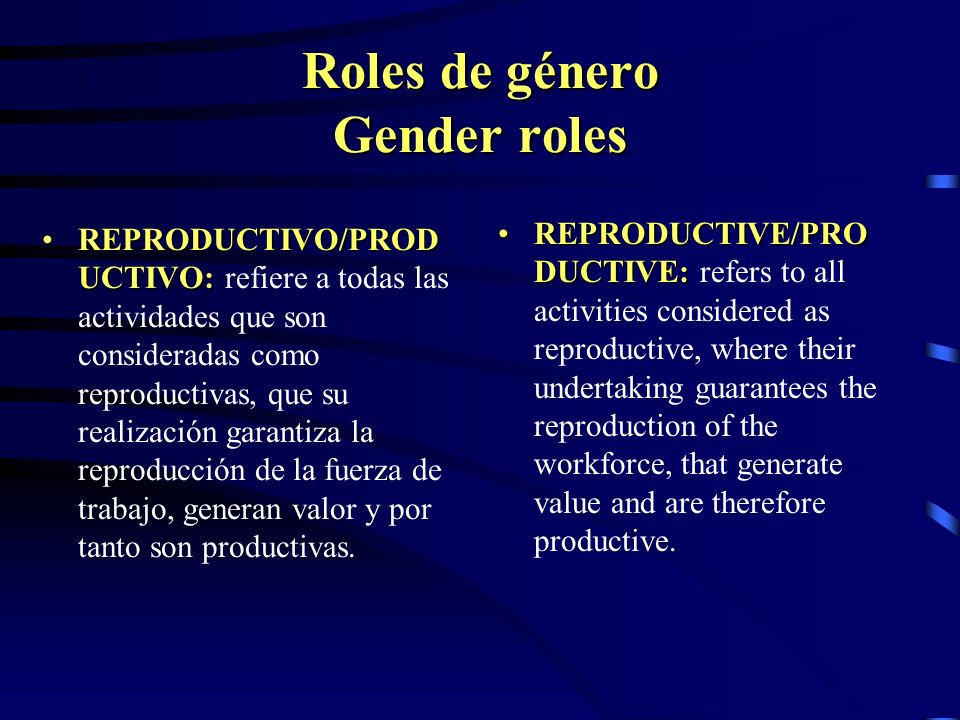 Roles de género Gender roles