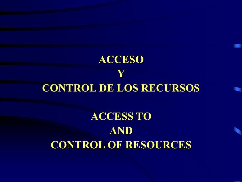 CONTROL DE LOS RECURSOS