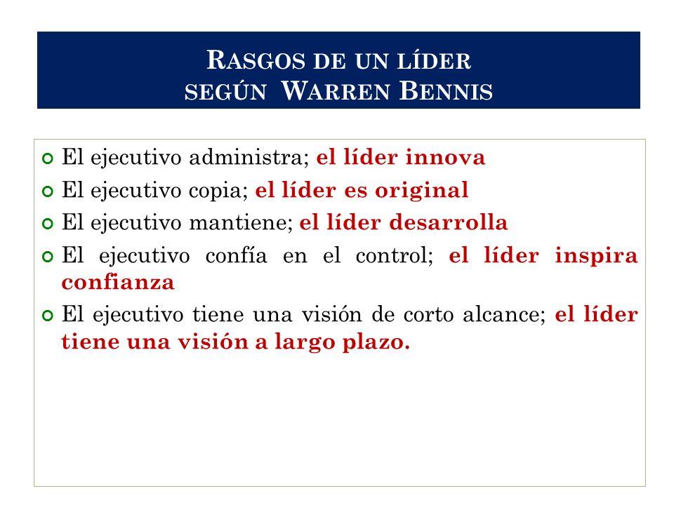Rasgos de un líder según Warren Bennis
