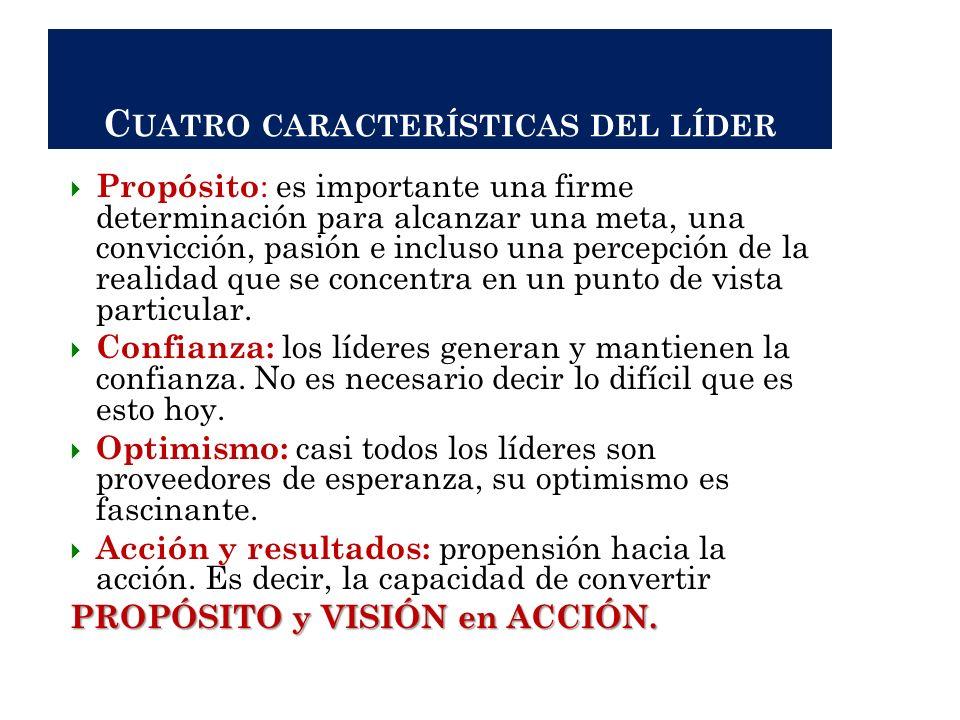 Cuatro características del líder