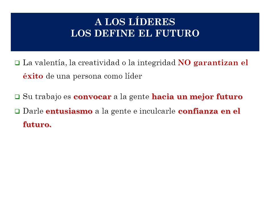 A LOS LÍDERES LOS DEFINE EL FUTURO