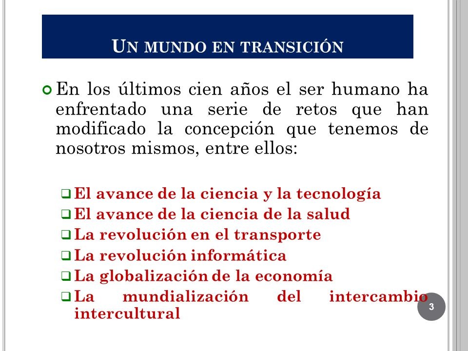 Un mundo en transición