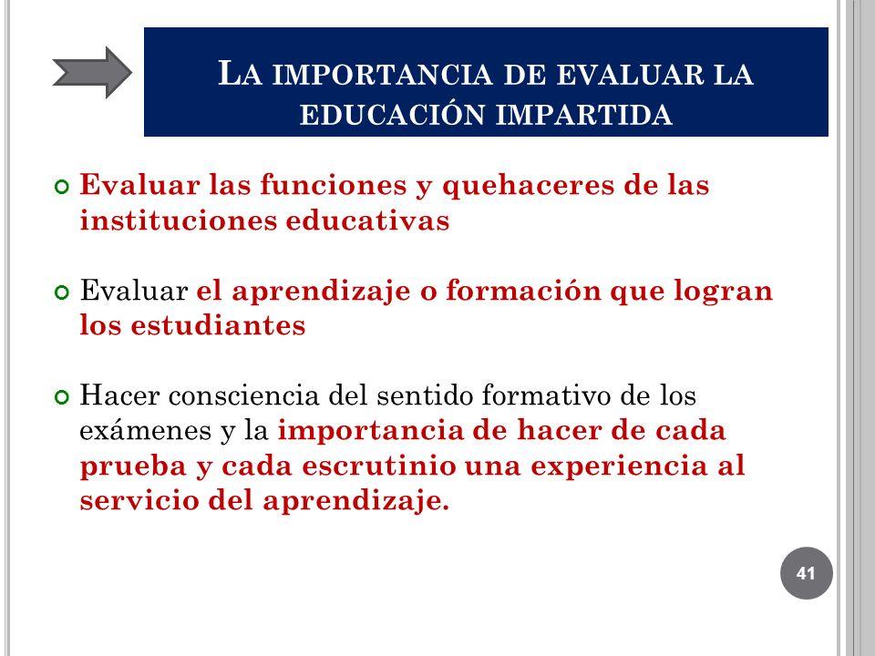 La importancia de evaluar la educación impartida