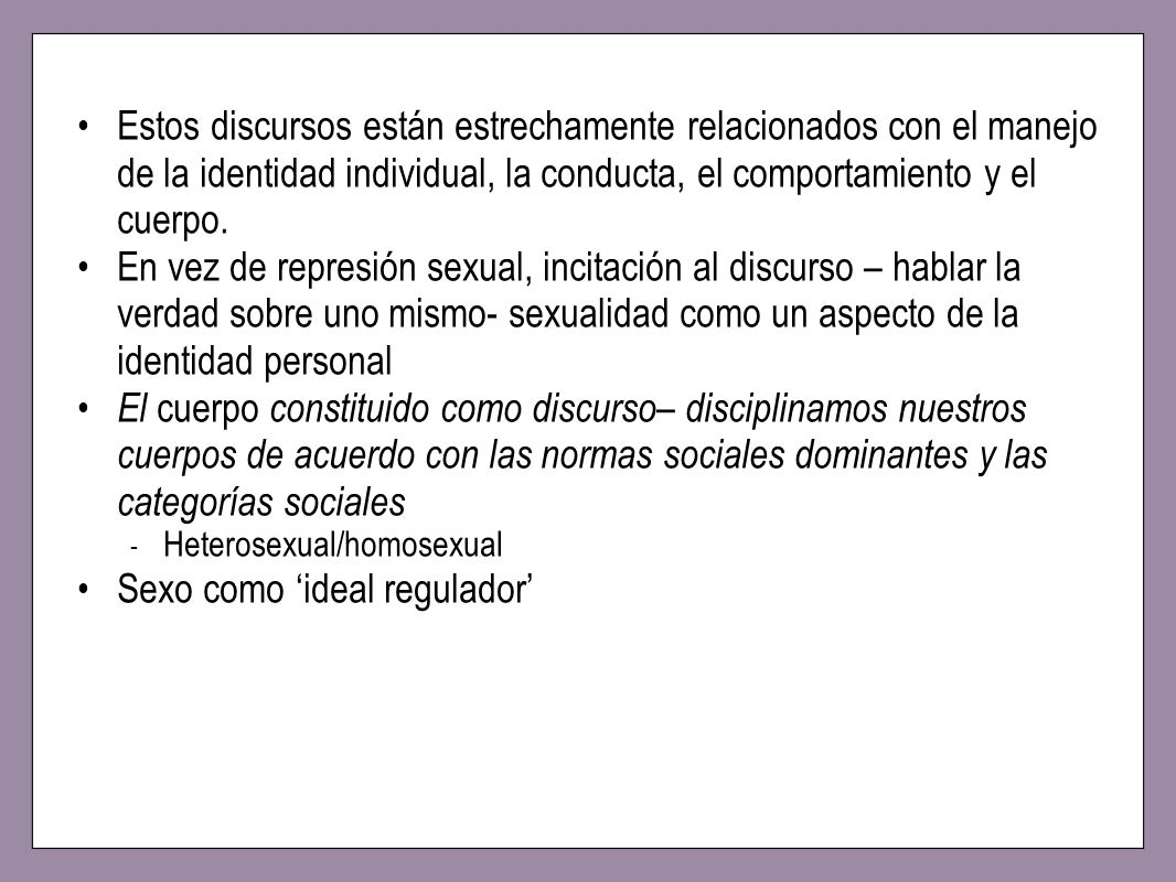 Sexo como 'ideal regulador'