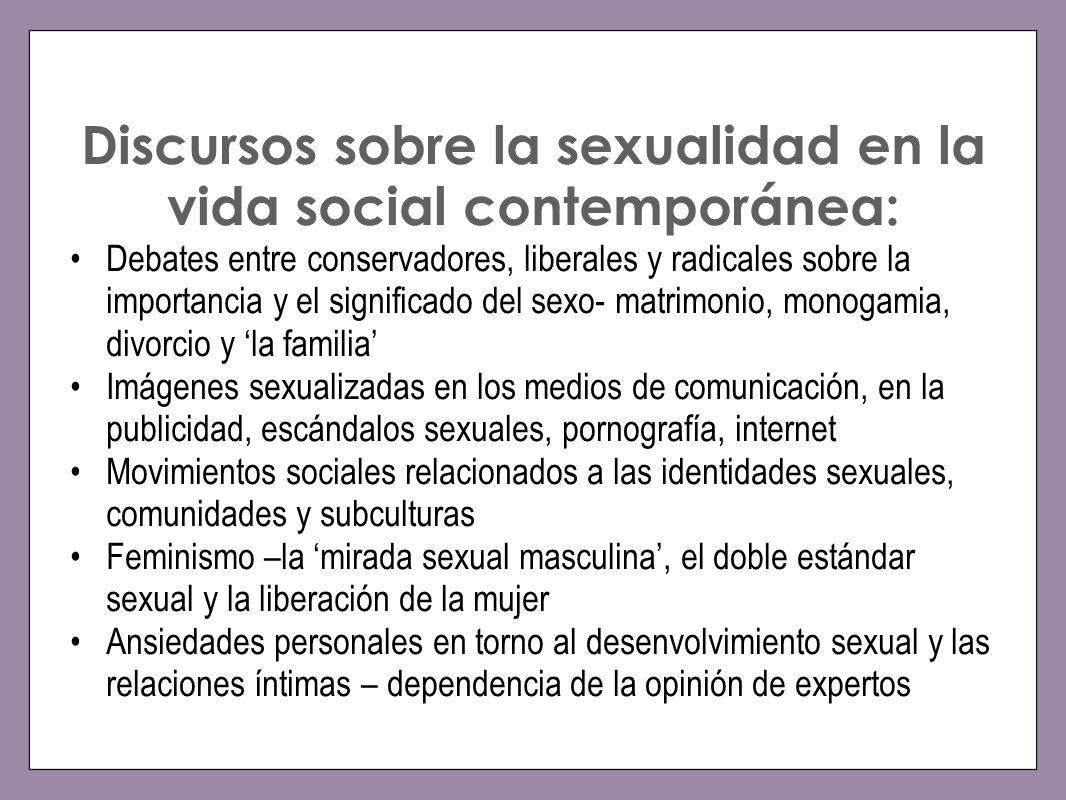 Discursos sobre la sexualidad en la vida social contemporánea: