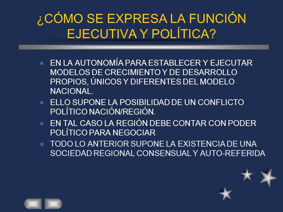 ¿CÓMO SE EXPRESA LA FUNCIÓN EJECUTIVA Y POLÍTICA