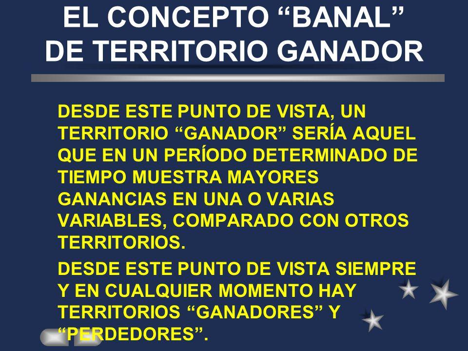EL CONCEPTO BANAL DE TERRITORIO GANADOR