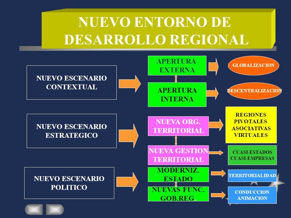 NUEVO ENTORNO DE DESARROLLO REGIONAL
