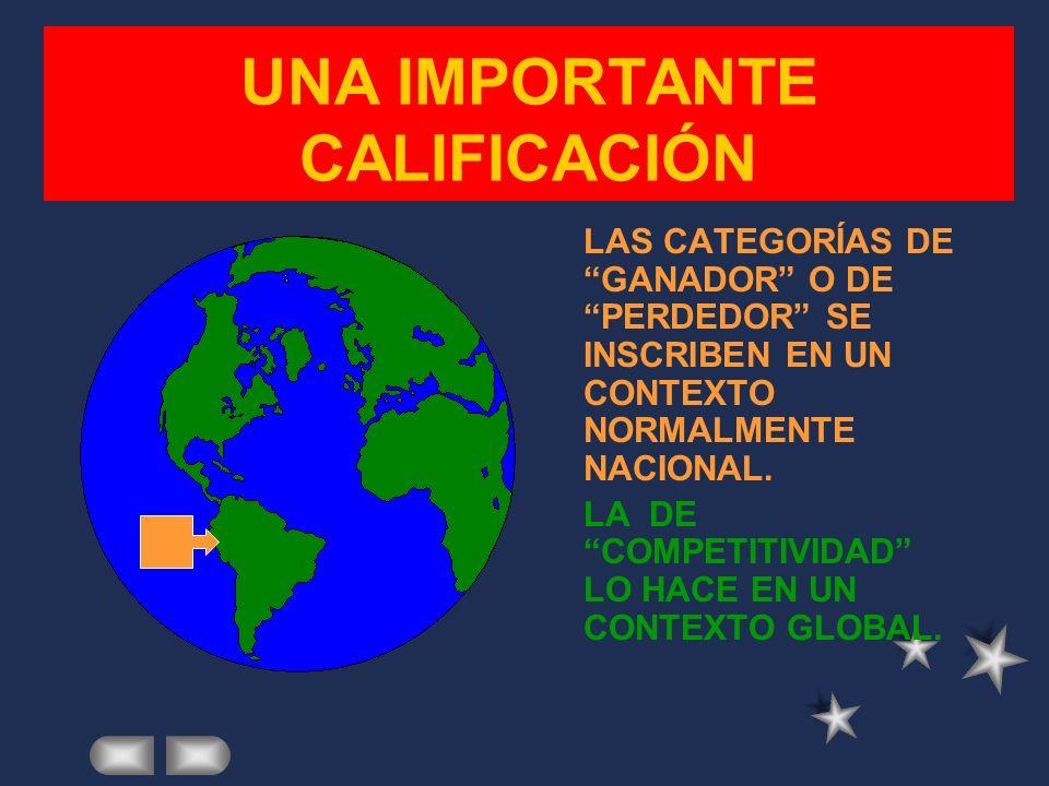 UNA IMPORTANTE CALIFICACIÓN