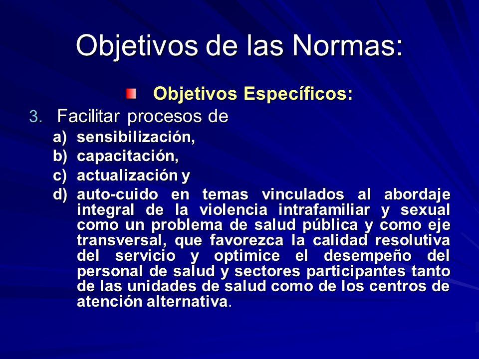 Objetivos de las Normas: