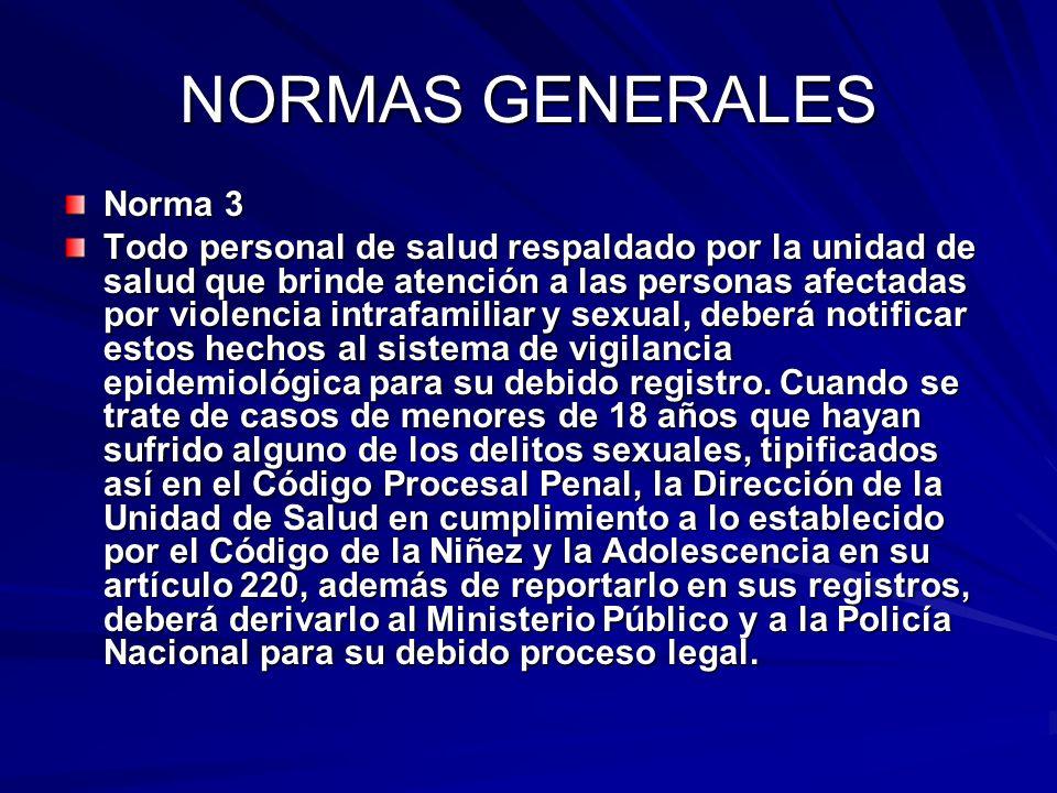 NORMAS GENERALES Norma 3