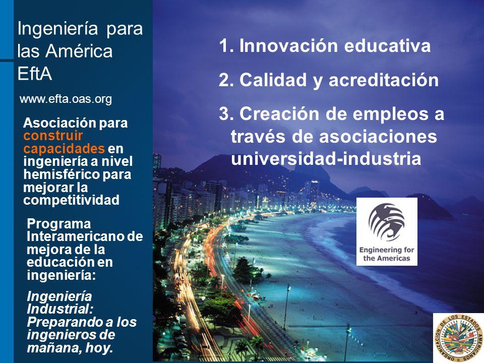 Ingeniería para las América EftA Innovación educativa