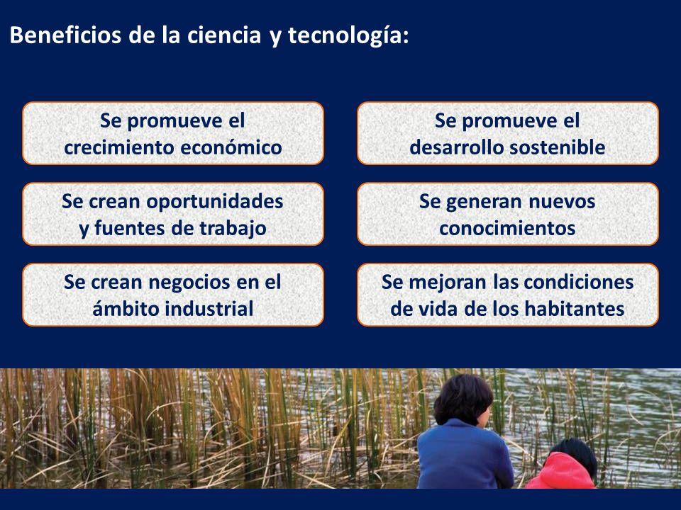 Beneficios de la ciencia y tecnología: