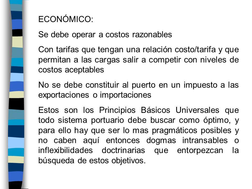 ECONÓMICO: Se debe operar a costos razonables.