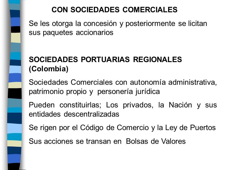 CON SOCIEDADES COMERCIALES
