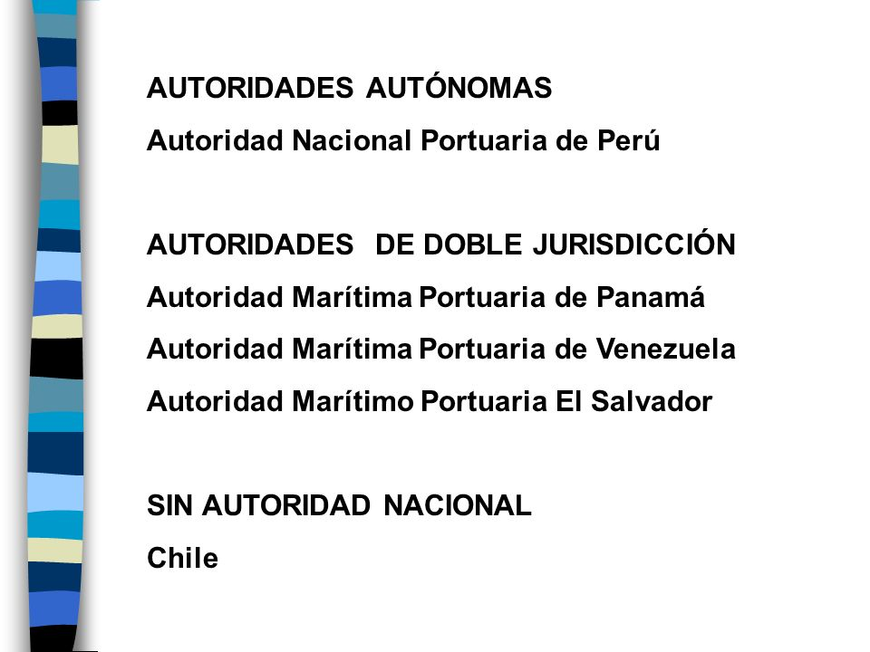 AUTORIDADES AUTÓNOMAS