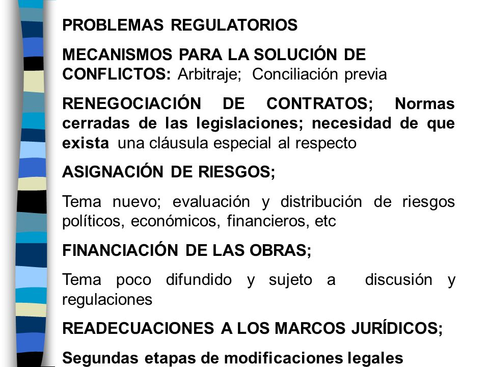 PROBLEMAS REGULATORIOS