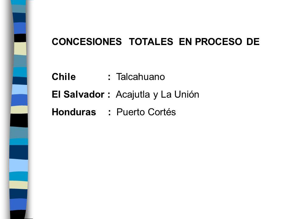 CONCESIONES TOTALES EN PROCESO DE