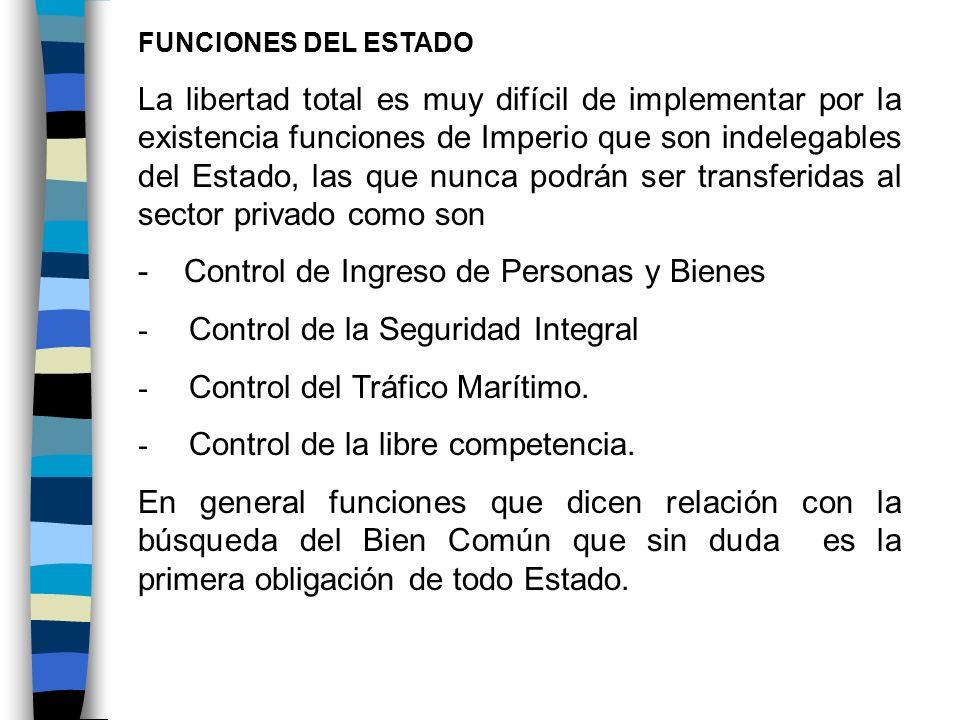 - Control de Ingreso de Personas y Bienes