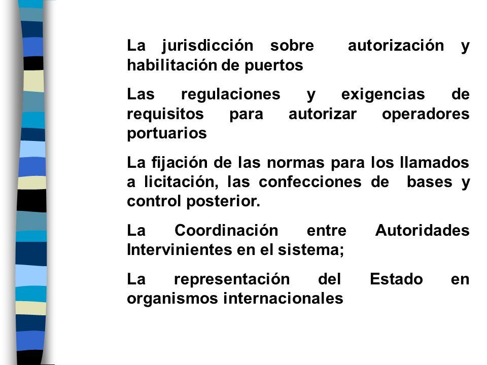 La jurisdicción sobre autorización y habilitación de puertos