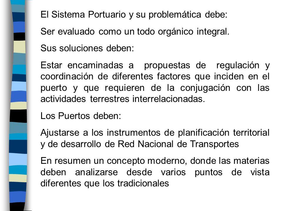 El Sistema Portuario y su problemática debe: