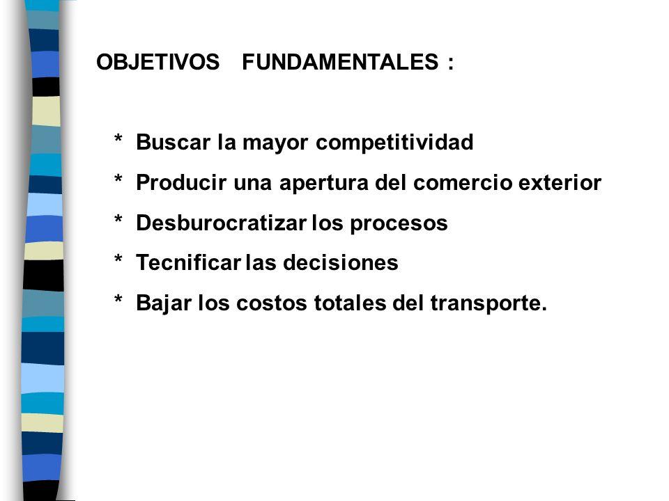 OBJETIVOS FUNDAMENTALES :