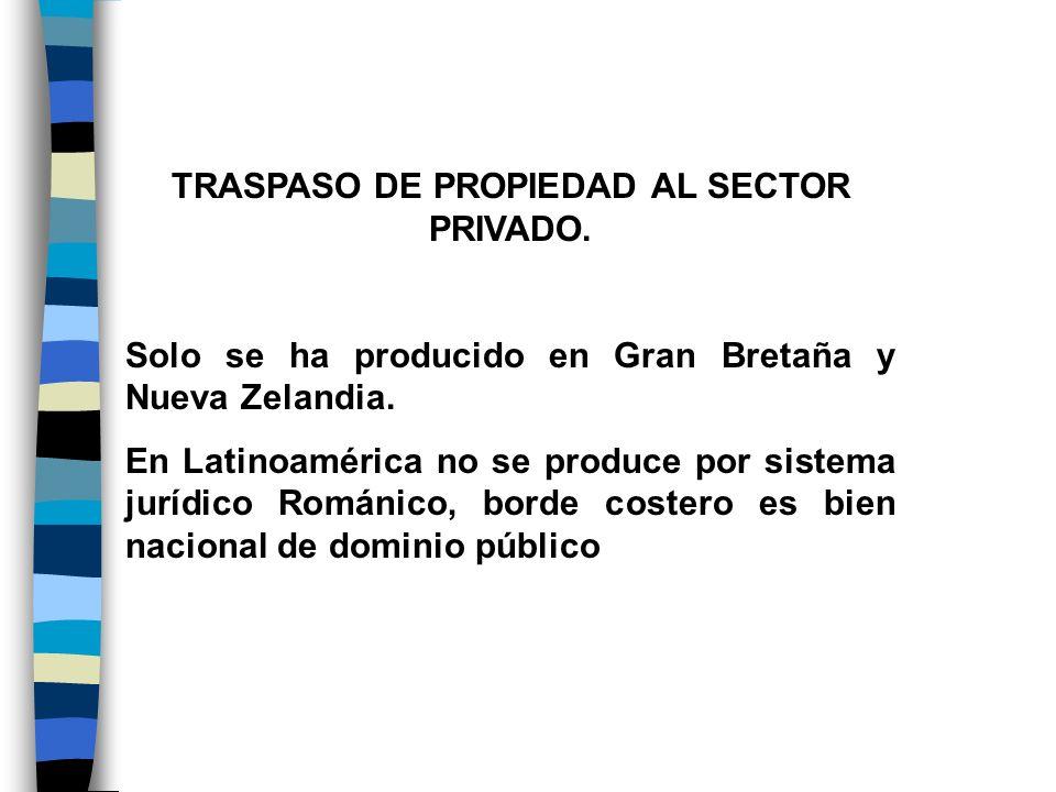 TRASPASO DE PROPIEDAD AL SECTOR PRIVADO.
