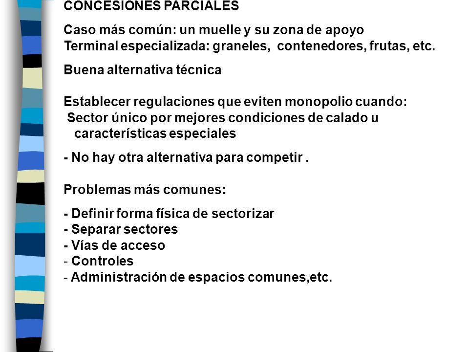 CONCESIONES PARCIALES
