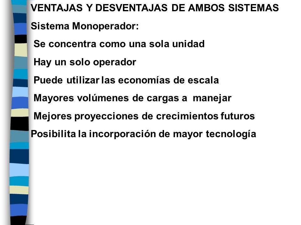 VENTAJAS Y DESVENTAJAS DE AMBOS SISTEMAS