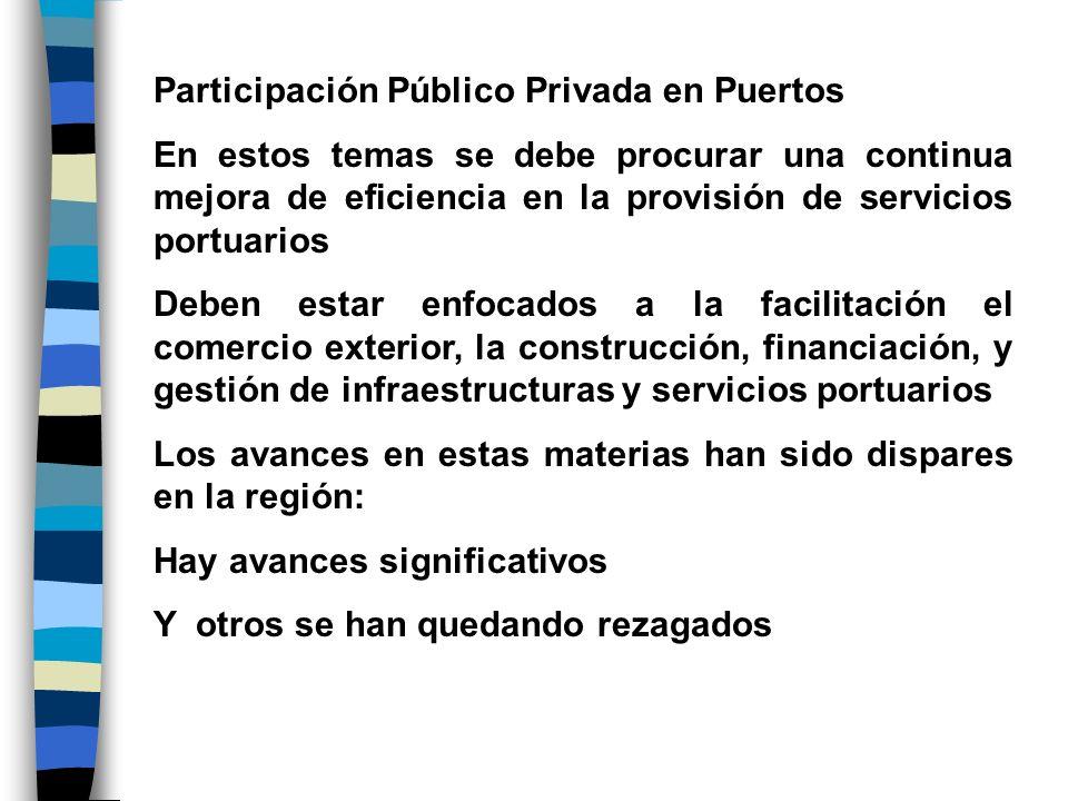 Participación Público Privada en Puertos