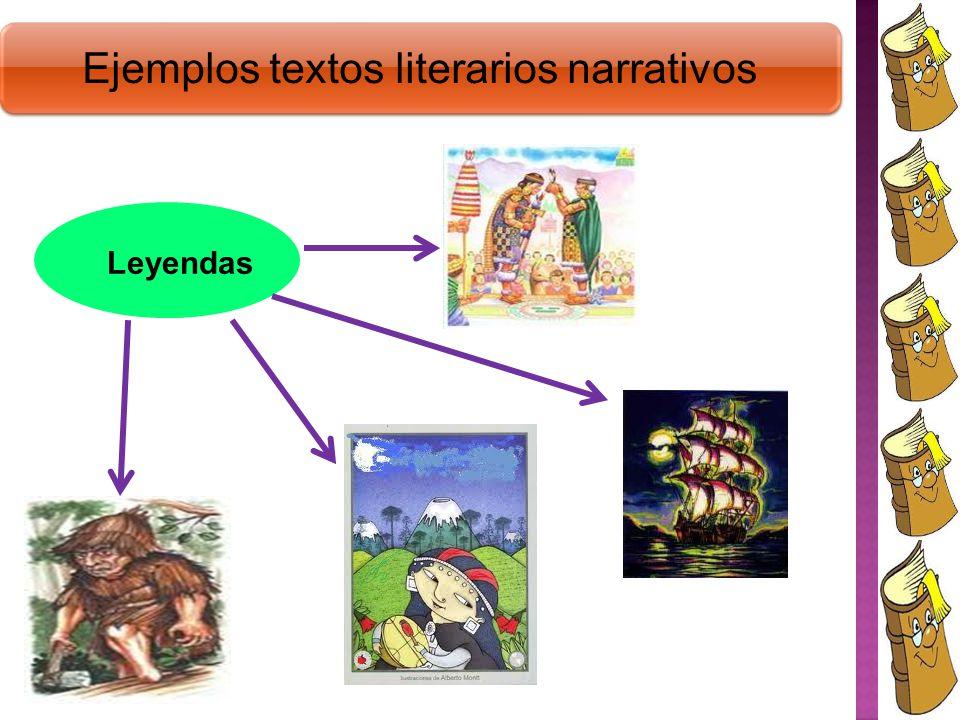 Ejemplos textos literarios narrativos