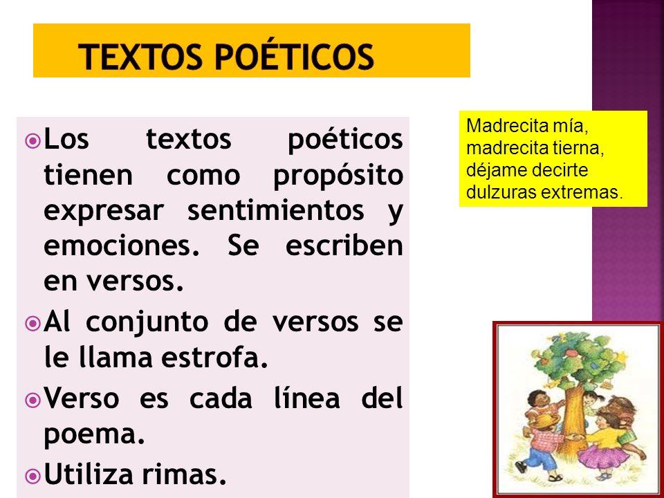 Textos poéticos Madrecita mía, madrecita tierna, déjame decirte dulzuras extremas.